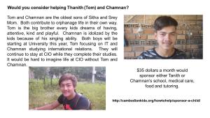 Tom and Chamnan